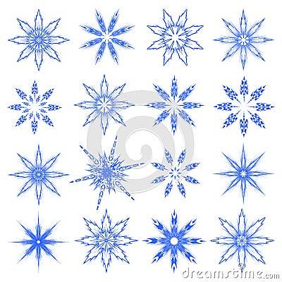 Symbolic snowflakes.