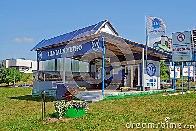 The symbolic station of the Vilnius Underground Editorial Photo