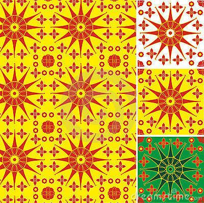 Symbolic sun seamless texture