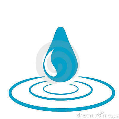 Symbolic water drop design (vector)