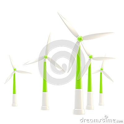 Free Symbolic Wind Power Stations Isolated Stock Photo - 34530650