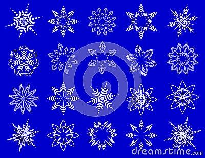 Symbolische Schneeflocken.