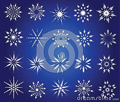 Symbolische sneeuwvlokken.