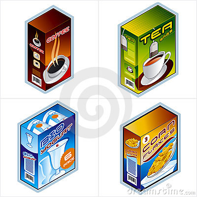 Free Symbols 34b. Grocery Icons Stock Images - 1358644