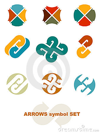 Symbols with arrows.