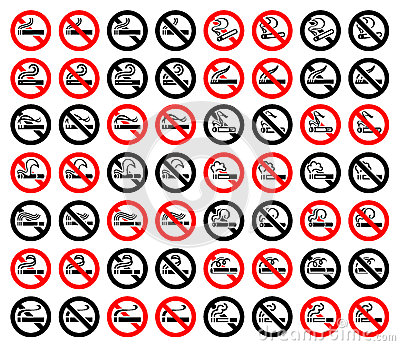 14 symbols of cigarettes, 56 round signs