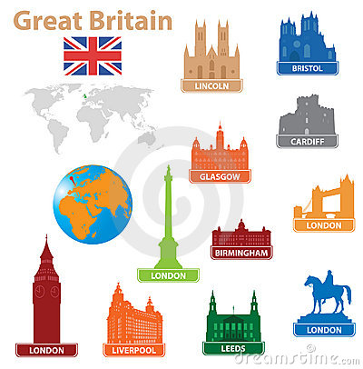 Symbols city to Great Britain