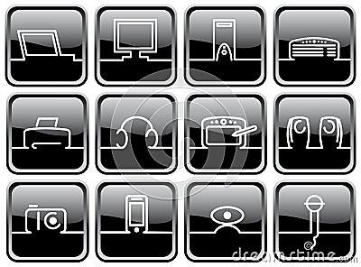 Symbols of computer technics