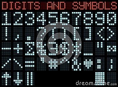Symbols and digits.