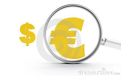Symbols of dollar and euro