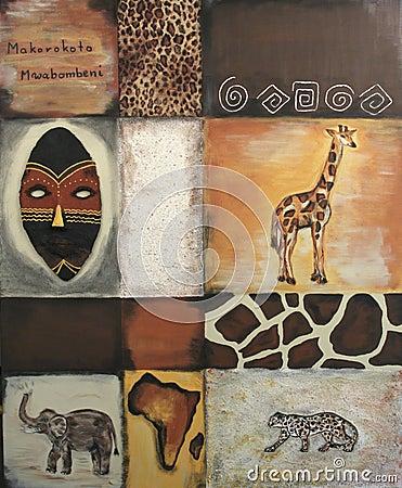 Free Symbols Of Africa Stock Photography - 1018412