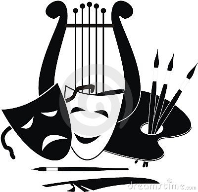 Free Symbols Of Arts, Music. And Theater Royalty Free Stock Images - 20967169