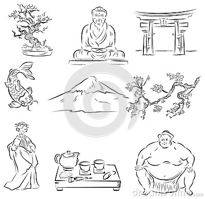 Free Symbols Of Japanese Culture Stock Photography - 26547012