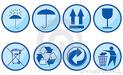 Symbols for packing subjects. Editorial Stock Image