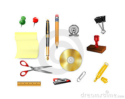 Symbols for office supplies