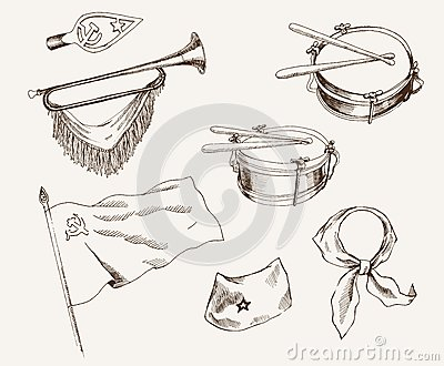Symbols of pioneers