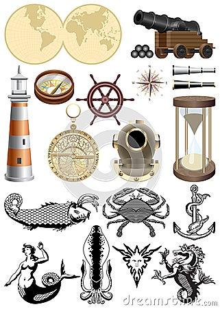 Symbols of sea