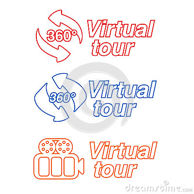 Symbols - signs for virtual tour