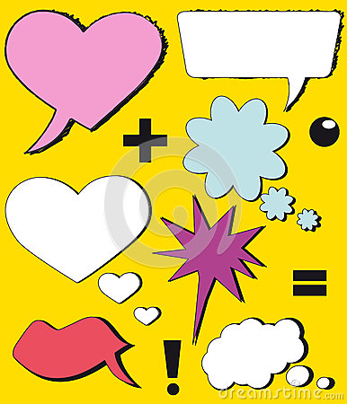 Free Symbols Speech Bubbles (comic Speech Bubbles) Royalty Free Stock Images - 27796869