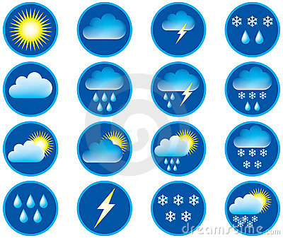 Symbols for weather.