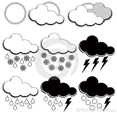 Symbols For Weather Forecasters Royalty Free Stock Photography - Image: 23909727