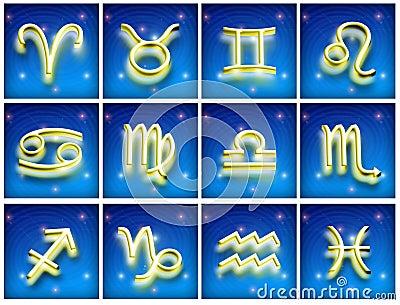 Symbols of the zodiac