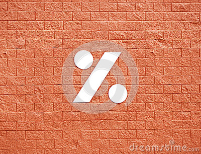 Symbool op rode muur