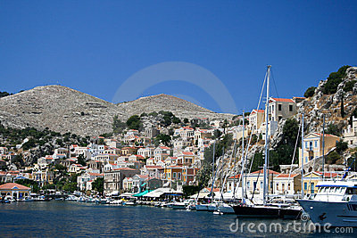 Symi bay Editorial Photo