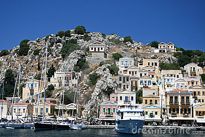 Symi bay Editorial Stock Image