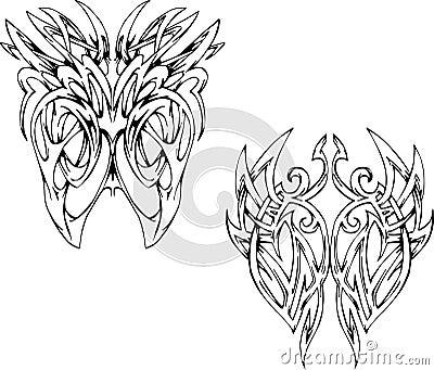 Symmetric bone-like vignettes