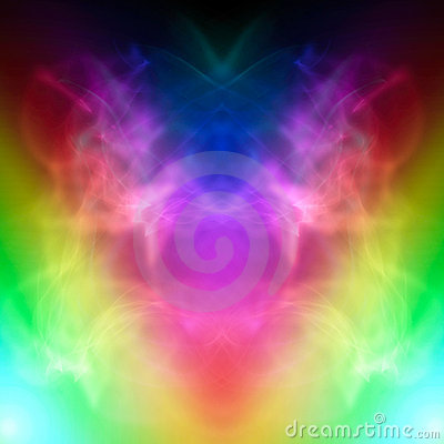 Symmetric colorful smoke effect