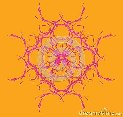 Symmetric, floral pattern