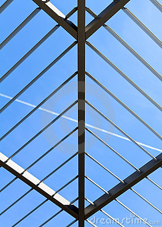 Symmetric (triangle) roof made of steel