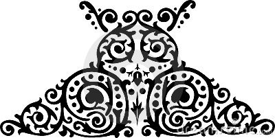 Symmetrical black pattern