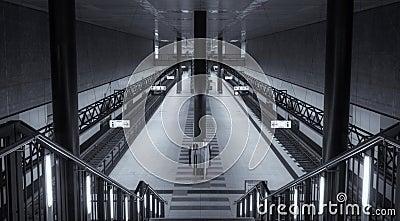 Symmetrical central station Berlin