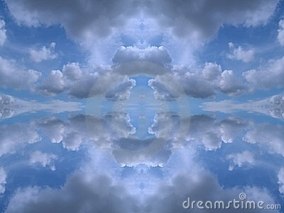 Symmetrical clouds kaleidoscope