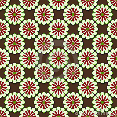 Symmetrical flower pattern