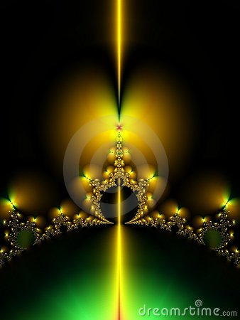 Free Symmetrical Gold Fractal Crown Stock Photo - 1852340