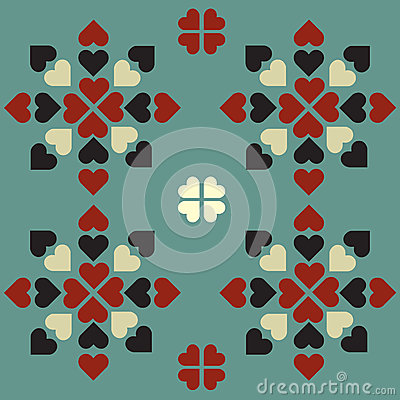 Symmetrical heart pattern graphic