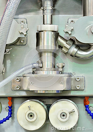 Symmetrical image of manufacturing equipment detail