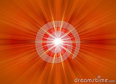 symmetrical orange rays
