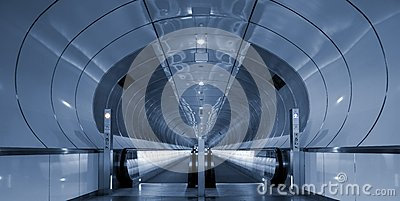 Symmetrical rings in subway tunnel