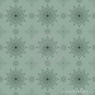 Symmetrical seamless pattern. Vector
