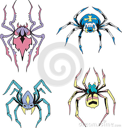Symmetrical spiders