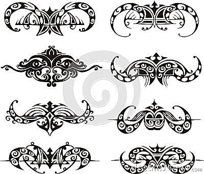 Symmetrical tribal vignettes