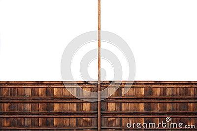 Symmetrical wooden billboard