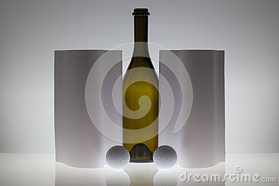 Symmetry abstract Paper Background with glass and golf balls
