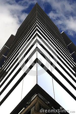 Symmetry of a glass building