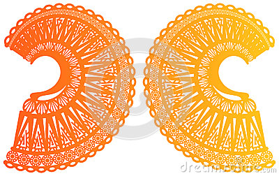 Symmetry of two rounding up ornate ornaments