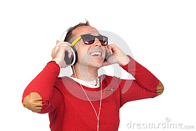 Sympathetic man with headphone